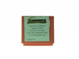 """Guardhouse Orange Quarter Coin Storage Box with 100 Coin Flips, 2"""" x 2"""" x 8.5"""" image 2"""