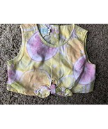 Toddler Girl CROPPED TOP Citrus LEMONS Daisy Duke Tied BABY LULU Summer ... - $9.70