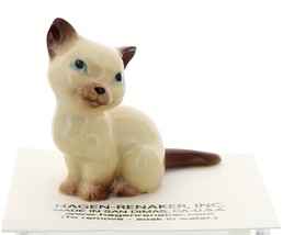Hagen-Renaker Miniature Cat Figurine Siamese Mama Chocolate Point image 1