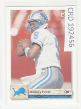 1992 Upper Deck Rodney Peete QB Detroit Lions  #179  192456 - $1.86