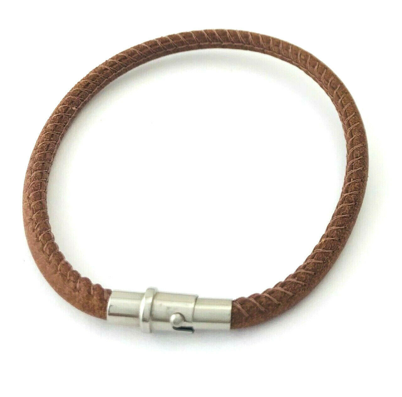 Primary image for Brighton Coachella Brown Leather Bracelet, Size S, New
