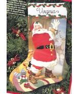 Dimensions Saint Nicholas Christmas Eve Deer Santa Toys Crewel Stocking ... - $232.95