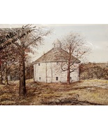 "1983 James Milton Smith ""The Risum Round Barn"" Limited Edition Art Print  - $45.00"