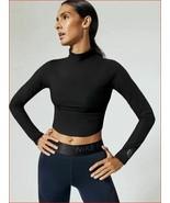 new Nike women sports top shirt crossfit running AQ9355-010 black sz M MSRP - $48.60