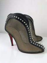 Christian Louboutin Bourriche 100 Mesh Black Ankle Boots 36 - $387.36