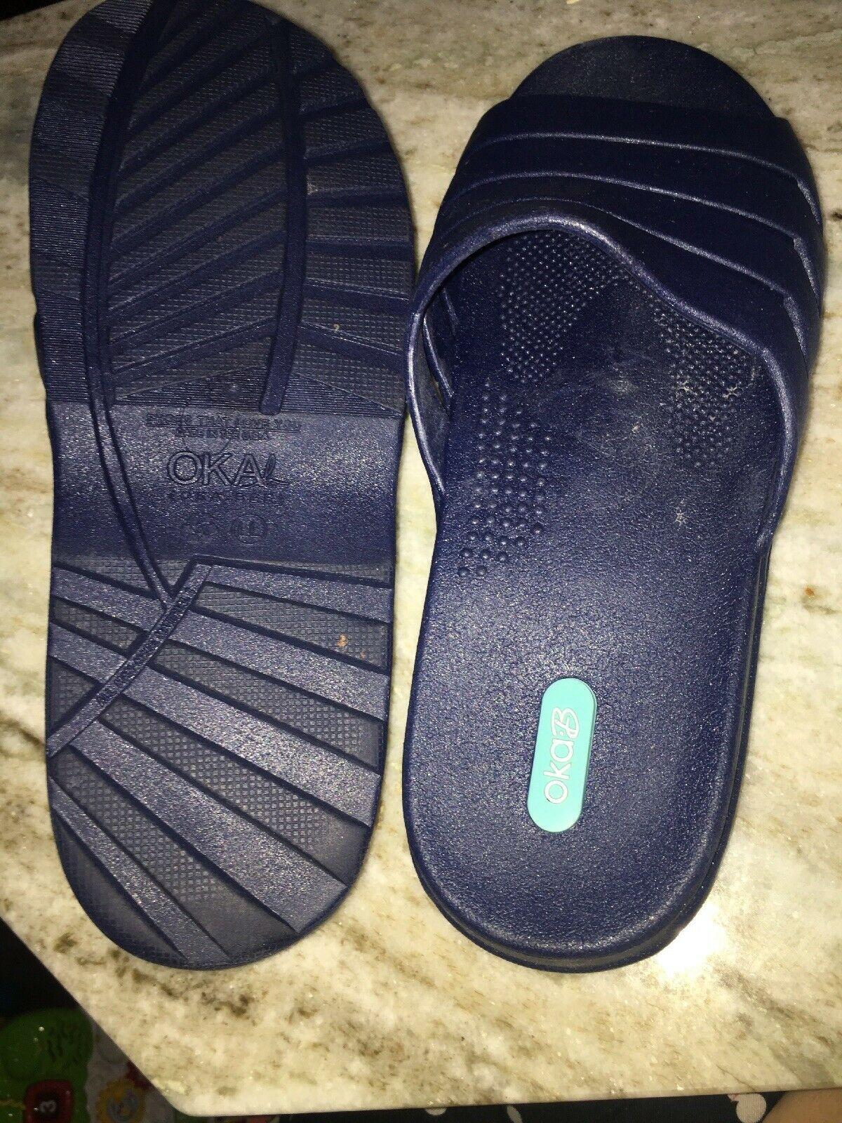oka bee LL sandals spa Navy