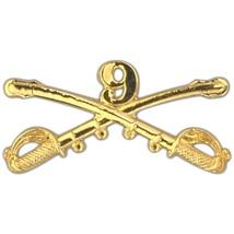 "ARMY 9TH CAVALRY GOLD LAPEL 2.25"" HAT PIN - $15.33"