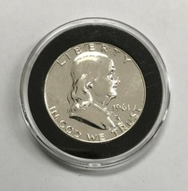 1961 Franklin Silver Proof Half Dollar With Capsule - $26.50