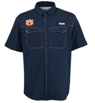 Auburn Tigers Columbia Pfg SHIRT- OMNISHADE-UV PROTECTION-LARGE-NWT-$55 Retail - $39.98