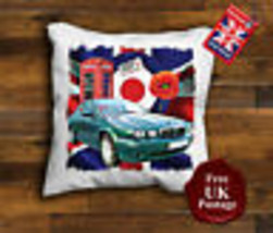 Jaguar X Type Cushion Cover, Jaguar Cushion, Union Jack, Target, Poppy, - $9.01+