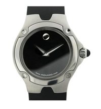 Movado Sports Edition Ladies Black Rubber Strap 84 G4 1851 Watch - $520.00