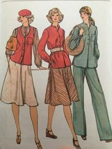 Vogue Sewing Pattern 9462 Vest, Shirt, Skirt, Pants Vintage 1970s Uncut ... - $13.49