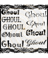 Ghoul Fonts 1a-Digital ClipArt-Gift Tag-Halloween-Scrapbook-Banner-Backg... - $3.99