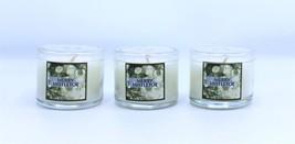 Bath & Body Works Mini Candles Merry Mistletoe Slatkin 1.3 oz Lot of 3 - $16.99