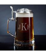 Classic Monogram European Glass Beer Stein - $49.95