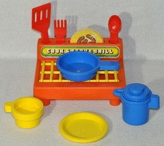 Vintage Playskool Cook & Serve Play Grill 1980's Toy Rare 0120!!! - $19.80
