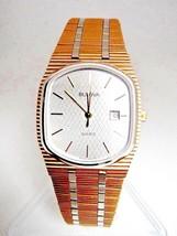 Classic Mens Bulova  Quartz Watch Two-Tone Band Elegant Face Swiss New O... - $89.99