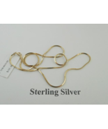 """Gold Tone Sterling Silver 20"""" Chain - New - $49.50"""