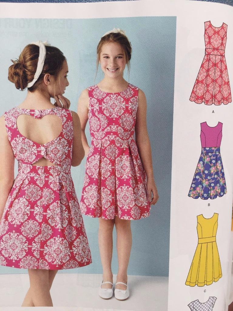 522008b76a4 S l1600. S l1600. Previous. Simplicity Sewing Pattern 1382 Girls Child Dress  Back Variations Size 8-16 New