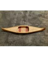 VINTAGE ADIRONDACK HANDMADE FOLK ART WOODEN CANOE MODEL - $150.00