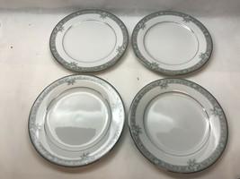 Vintage Legendary Noritake Lundeford Grey Platinum Salad Lunch Plates - $39.59