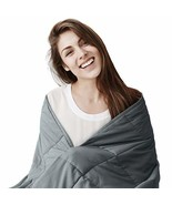 EXQ Home Weighted Blanket 17 lbs for Adults Heavy Blanket Grey Super Sof... - $40.55