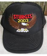 Sturgis 2003 Eagle Mesh Nissin Cap Adjustable Size Black - $12.99