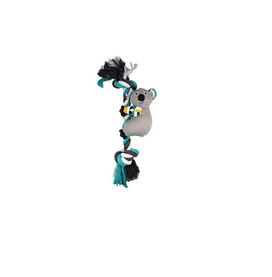 Kong Nodi Clingerz per Cane Giocattolo Koala Fermacapelli Along The Corda