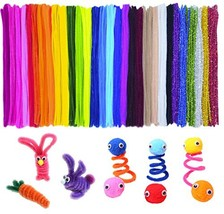 Acerich 600 Pcs Assorted Colors Pipe Cleaners DIY Art Craft Decorations ... - $12.50
