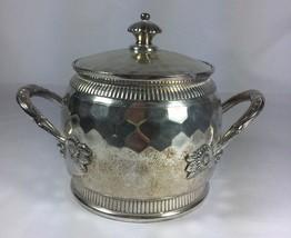 Antique Reed Barton Silverplated Holloware Hammered Sugar Jar Pot 3135 - $38.91