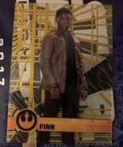 2017 Topps Star Wars High Tek Gold Rainbow Foil #27 Finn #'d 47/50 - $14.80