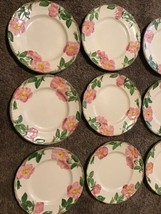 "Franciscan Desert Rose Set of 6 Dessert Salad or Lunch Plates 8"" Rose Pa... - $39.59"