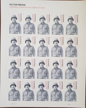 Japanese American Soldiers WWII Go For Broke1st Class (USPS) FOREVER Sta... - $15.95