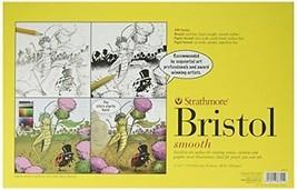 Pro-Art Strathmore Bristol Wandbild Glatte Papier Pad 27,9cm x 43cm, 2... - $43.12