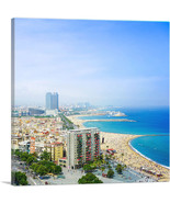 ARTCANVAS Barcelona, Spain - Beaches and Skyline Square - $41.99+