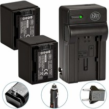 Fully Decoded 2-Pack Of Bp-727 And Battery Charger For Canon Vixia Hf R70, Hf R7 - $93.99