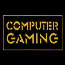 130035B Computer Gaming online cafe Screen Enthusiast Display LED Light Sign - $18.00