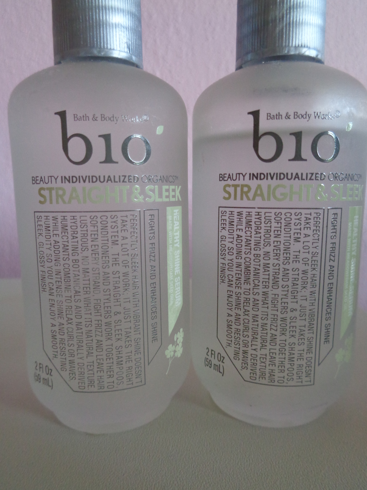 Primary image for Bath Body Works Bio Straight & Sleek Healthy Shine Hair Serum RARE 2 Lot