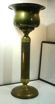 Vintage Hong Kong Brass Planter Pedistal 2 Piece - $43.56