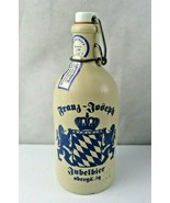 Franz Joseph Jubelbier German Stoneware Beer Bottle with Porcelain Stopper - $20.00