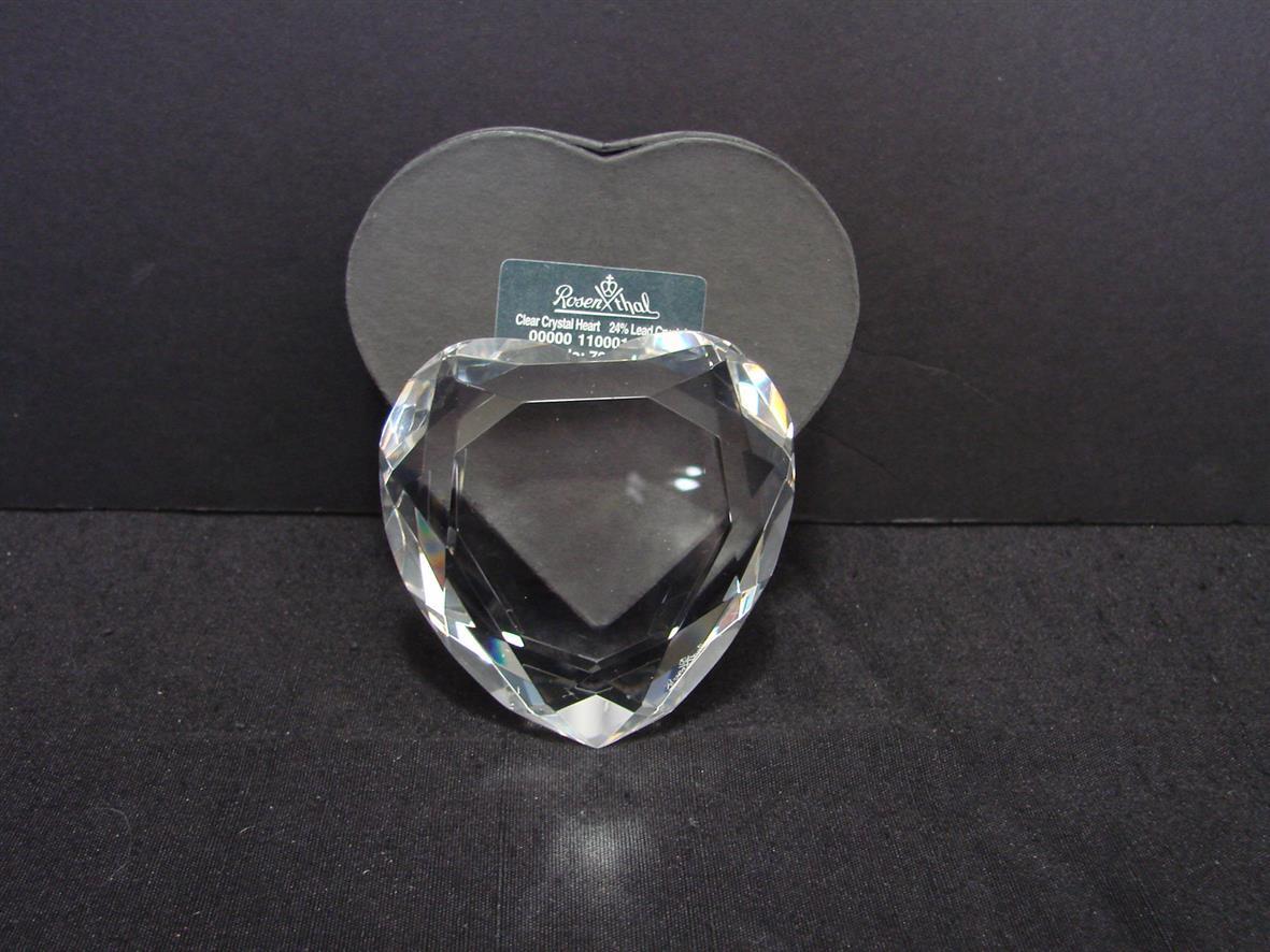 Rosenthal Germany  Crystal Heart, NIB