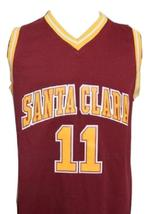 Steve Nash #11 College Basketball Jersey Sewn Maroon Any Size image 1