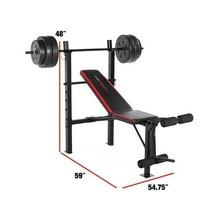 XL Mega Weight Set 240 Lbs Bench Weights Bar Press Barbell Dumbbell SuperSet Gym image 2