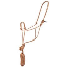 8 Ft Hilason Horse Halter Basic Poly Rope With Lead Tan U-67TN - $17.77