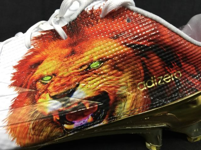 sale retailer cbc8e 20a02 Adidas 5-Star 5.0 Adizero Uncaged Lion Football Cleats Size 14 White Gold  NEW