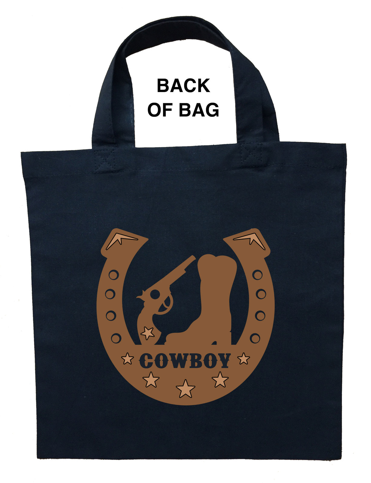 Cowboy Trick or Treat Bag, Personalized Cowboy Halloween Loot Bag, Cowboy Bag