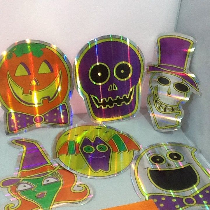 Vintage Paper Halloween Decorations Letter Banner Cardboard Neon Cutout Images