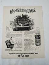 1974 TOYOTA LAND CRUISER Print Ad Advertisement Tarzan Burroughs Hard Top - $19.78