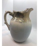 Antique white & Gold ceramic, ironstone water pitcher 1880's 1890's - $32.62