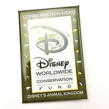 Disney Worldwide Hero Conservatoon Fund Pinback Button Green Animal Kingdom  - $12.86